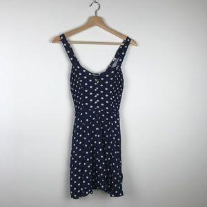 Urban Outfitters Navy White Dot Mini Dress
